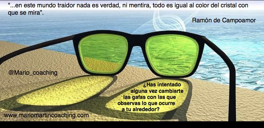 Las gafas con que observas lo que sucede a tu alrededor
