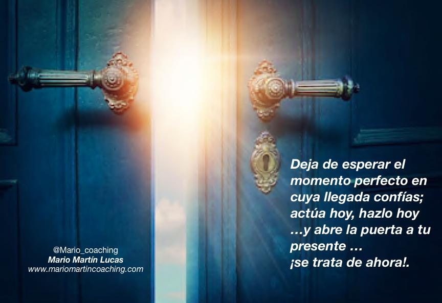 Abre la puerta a tu presente