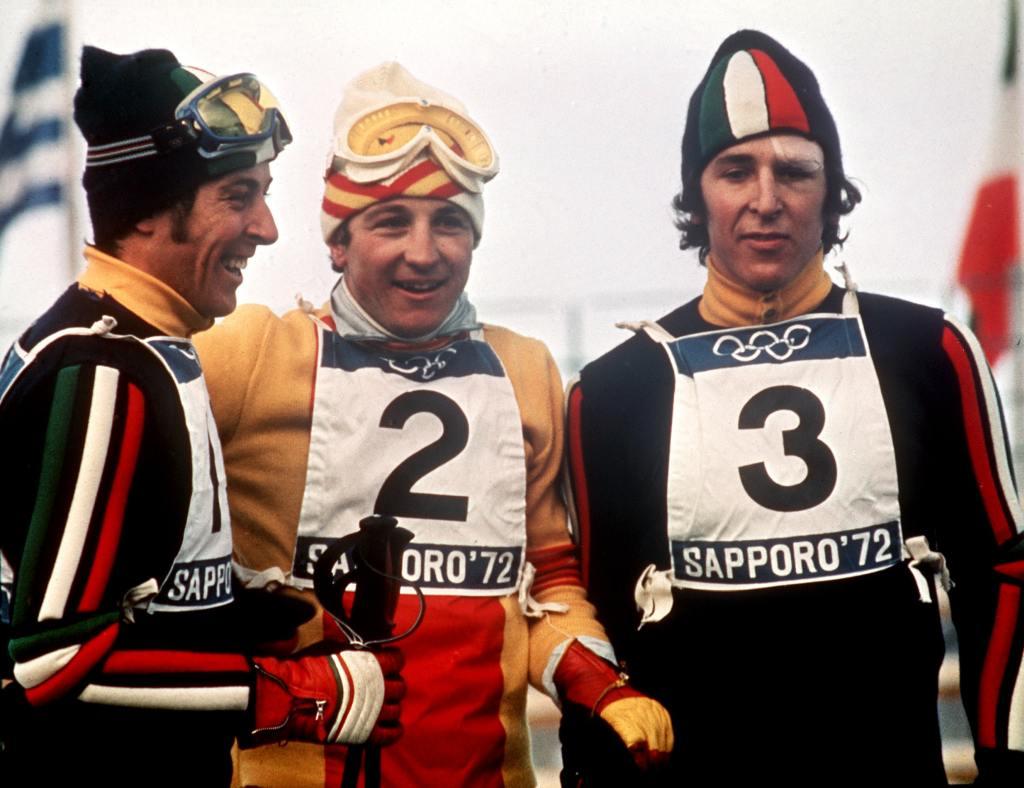 Paquito Fernandez Ochoa con Gustav y Roland Thöni